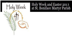Holy Week 2013 Featured Content Banner