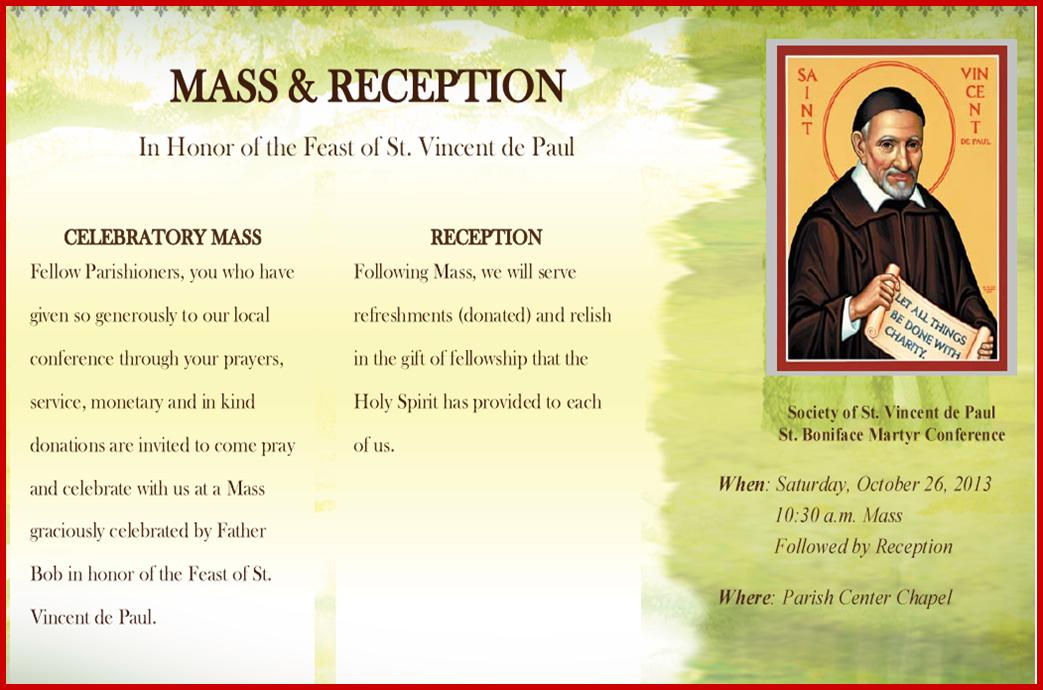 Mass and Reception Poster 26October2013