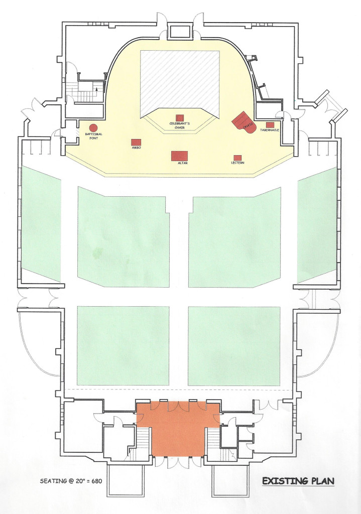 Our Church building's current floor plan.