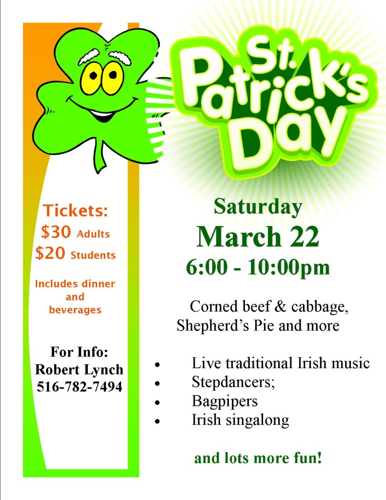 Flyer St. Patrick's Day
