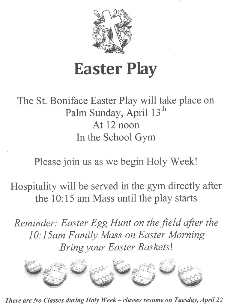 Easter Play Flyer