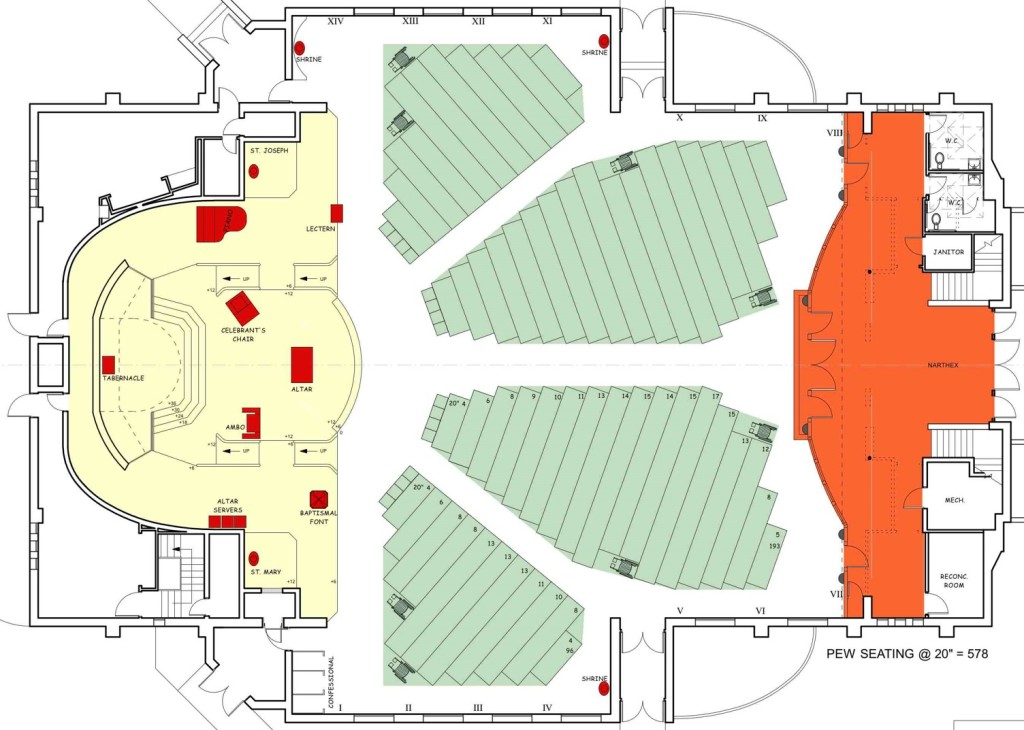"""Overhead"" view of proposed floor plan."