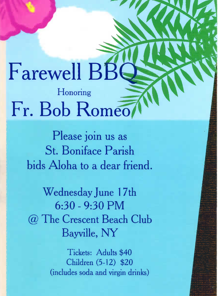 Fr Bob Farewell Poster
