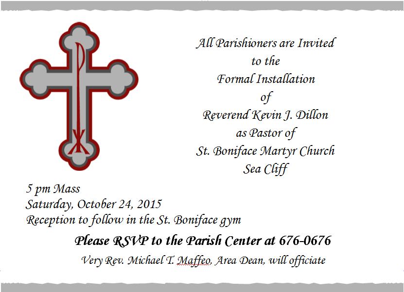 New Pastor Installation Reception