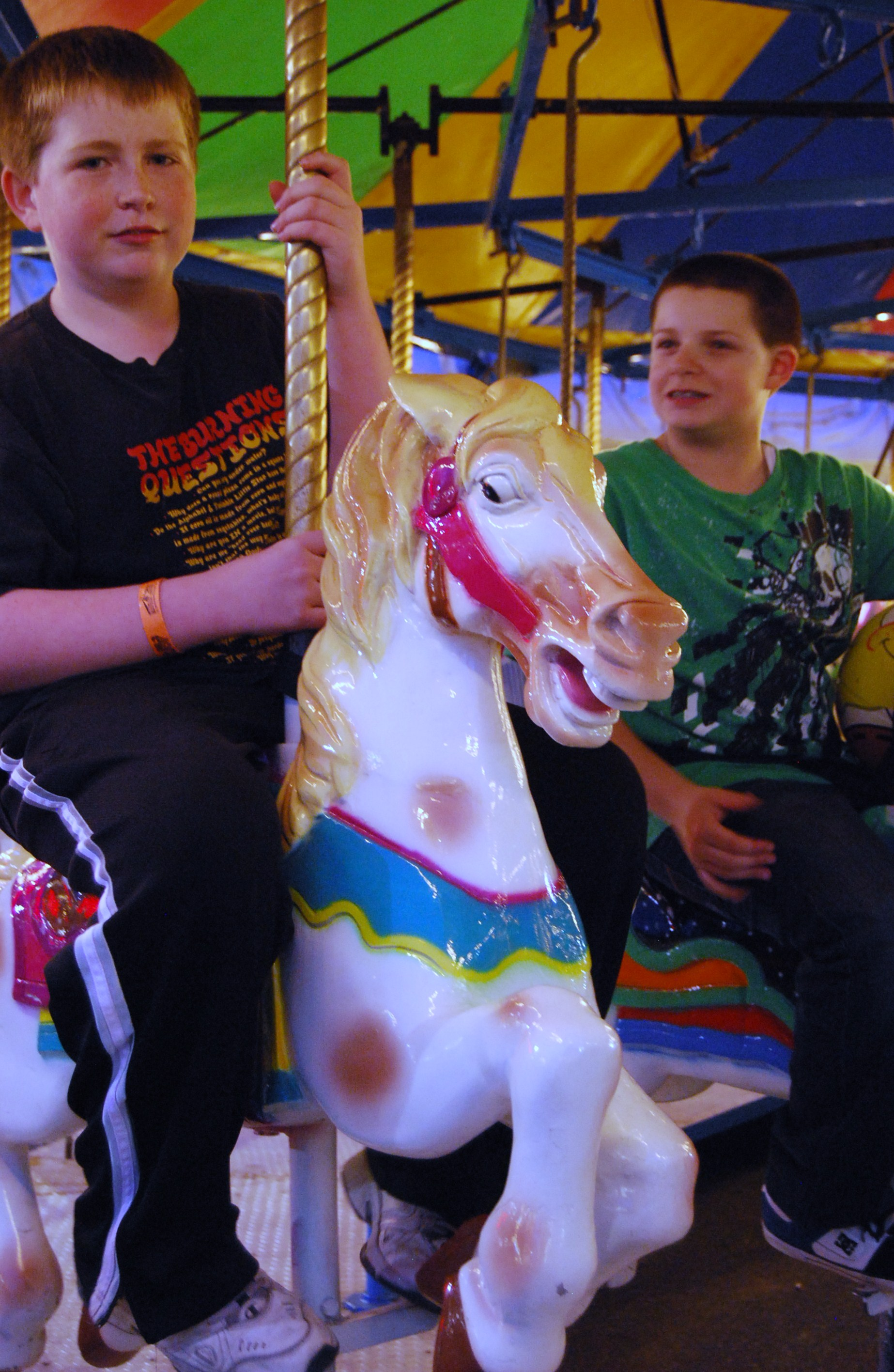 Conor and Matthew on Carousel