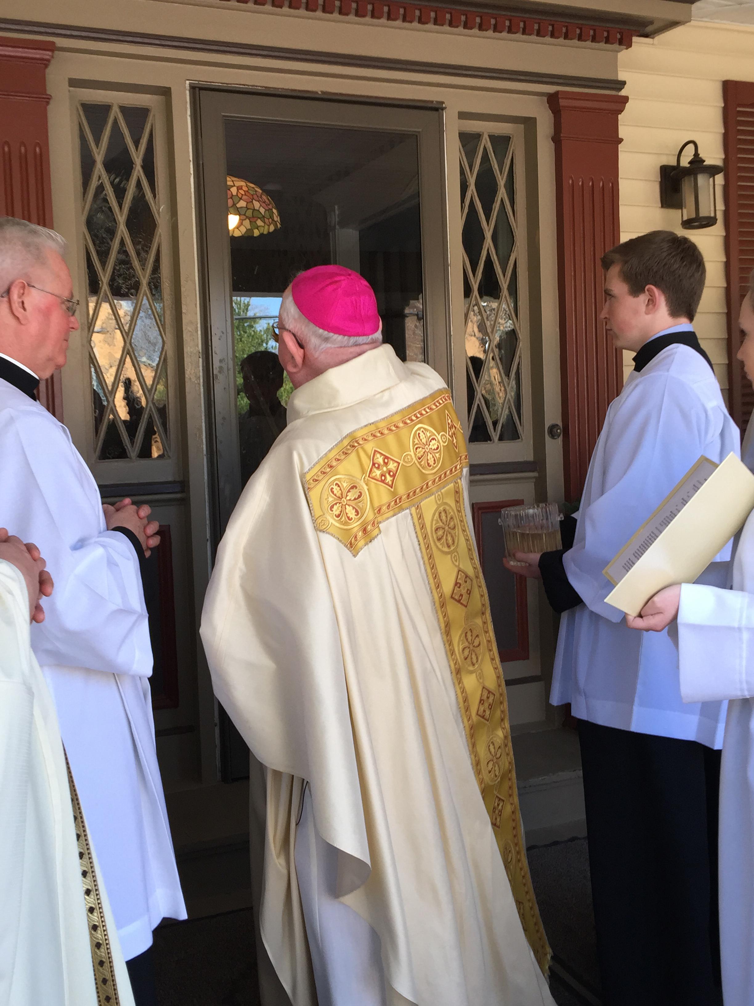 bishop-murphy-blessing-door-parish-center