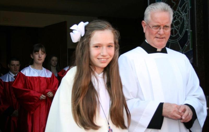maura-lynch-and-monsignor-morrissey-leaving-church